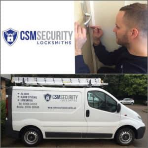 CSM Security Locksmiths (Logo, Sign Written Van & Locksmith)