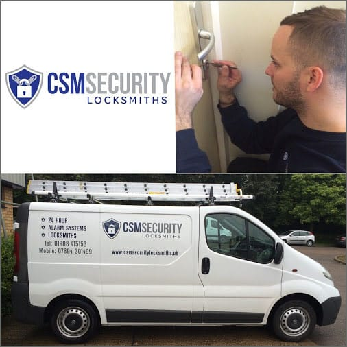 CSM Security Locksmiths (Logo, Sign Written Van & Locksmith)